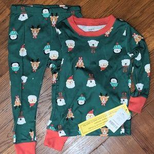 Christmas jammies, NWT 18m Carter's